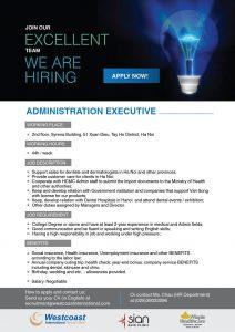 Admin Executive Westcoast International Dental Clinic